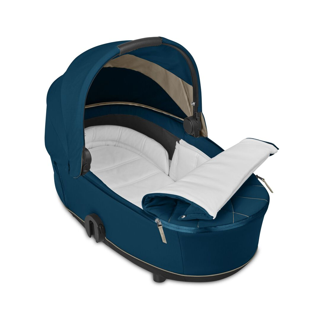 CYBEX Mios Lux Carry Cot - Mountain Blue in Mountain Blue large image number 2