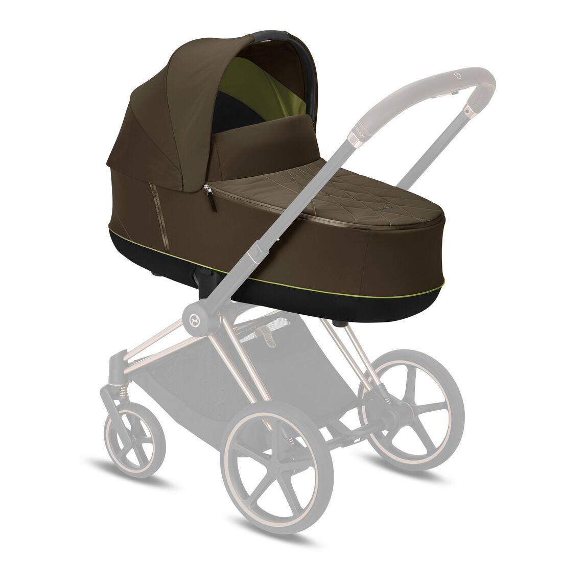 CYBEX Priam Lux Carry Cot - Khaki Green in Khaki Green large image number 5