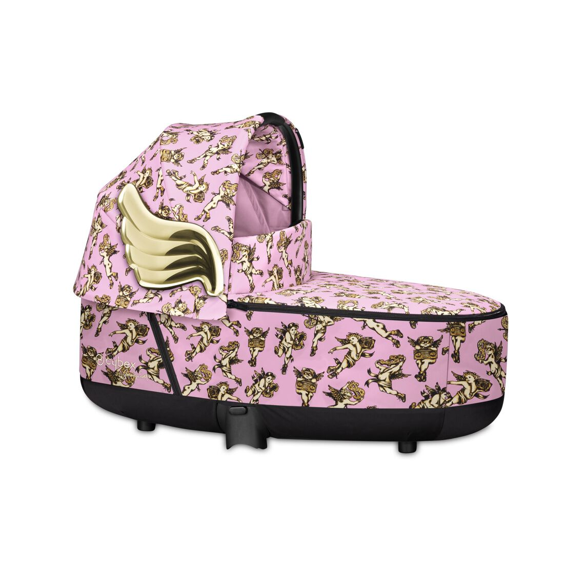 CYBEX Priam Lux Carry Cot - Cherubs Pink in Cherubs Pink large image number 1