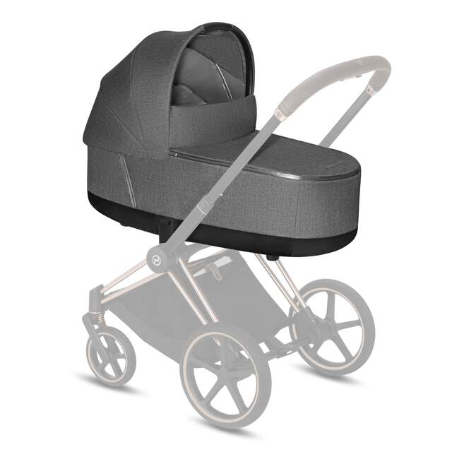 Priam Lux Carry Cot - Manhattan Grey Plus