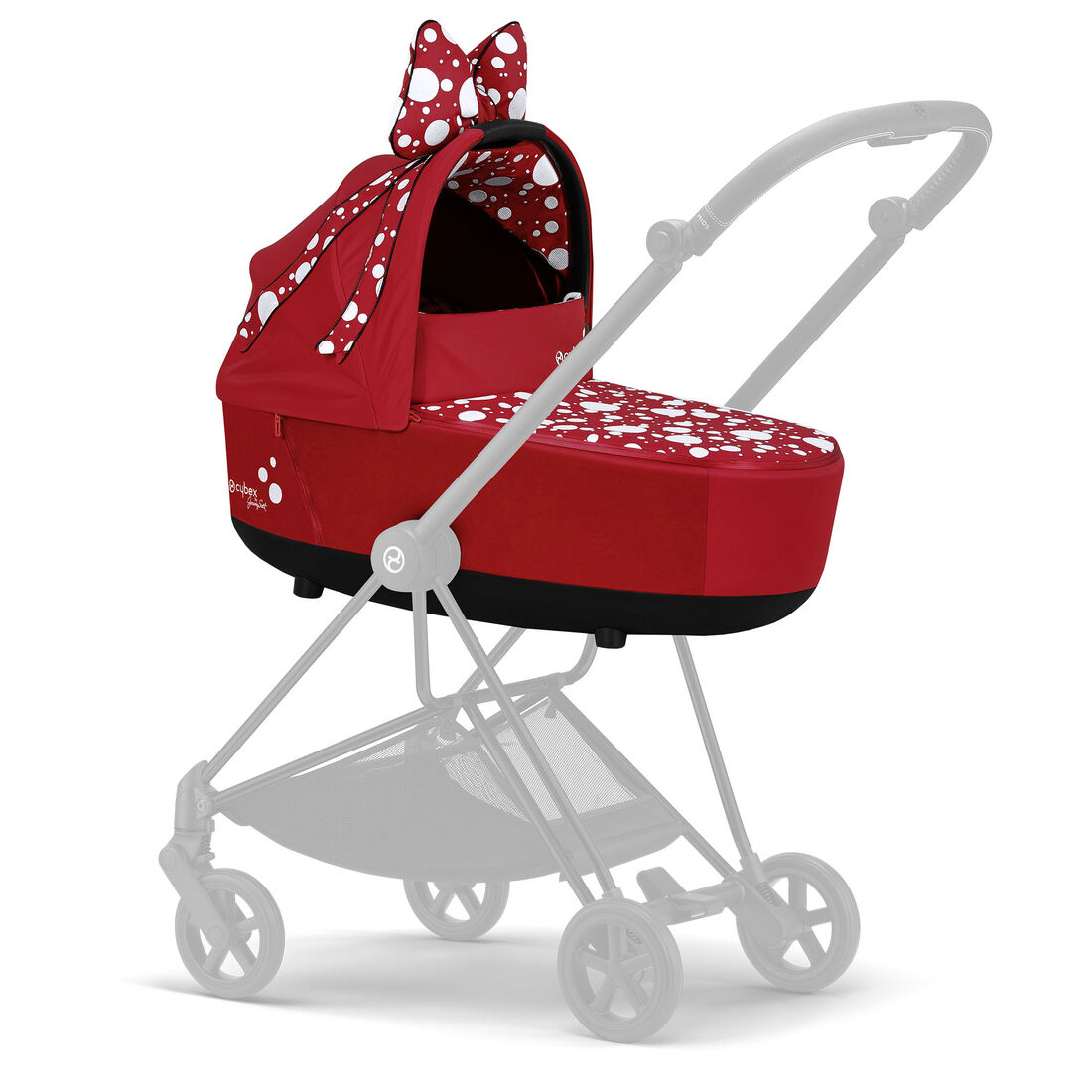CYBEX Mios Lux Carry Cot - Petticoat Red in Petticoat Red large image number 4