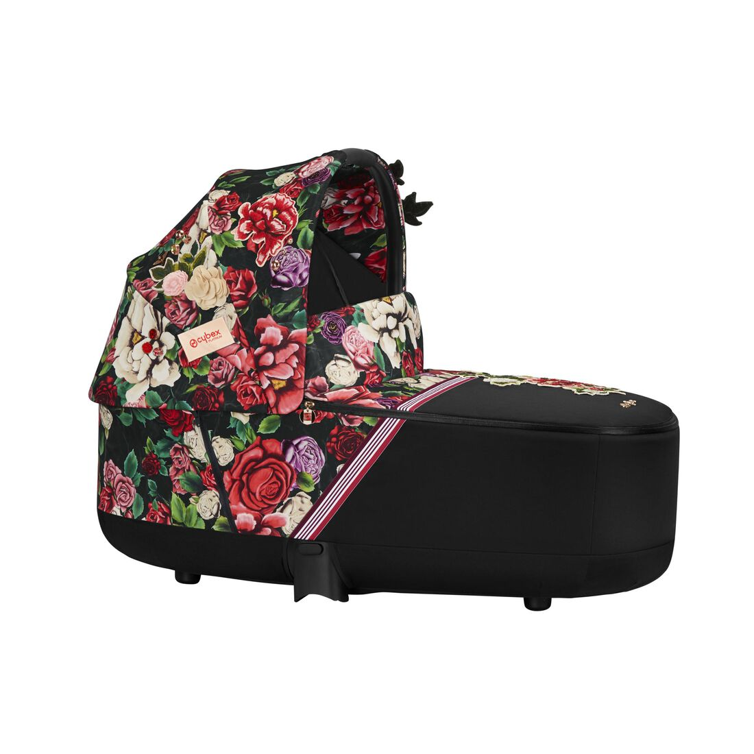 CYBEX Priam Lux Carry Cot - Spring Blossom Dark in Spring Blossom Dark large image number 1