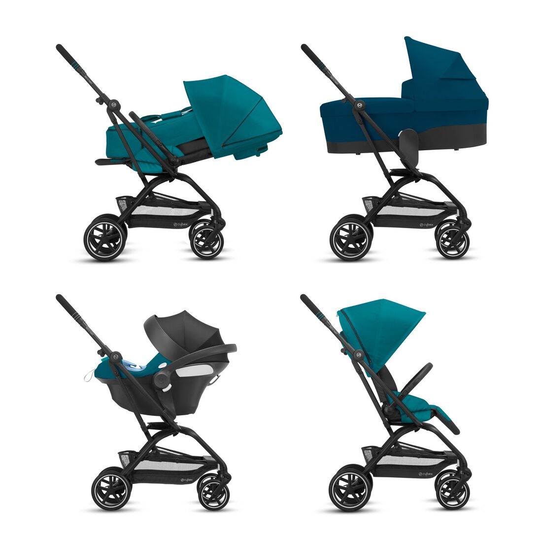 CYBEX Eezy S Twist+2 - River Blue (Schwarzer Rahmen) in River Blue (Black Frame) large Bild 7