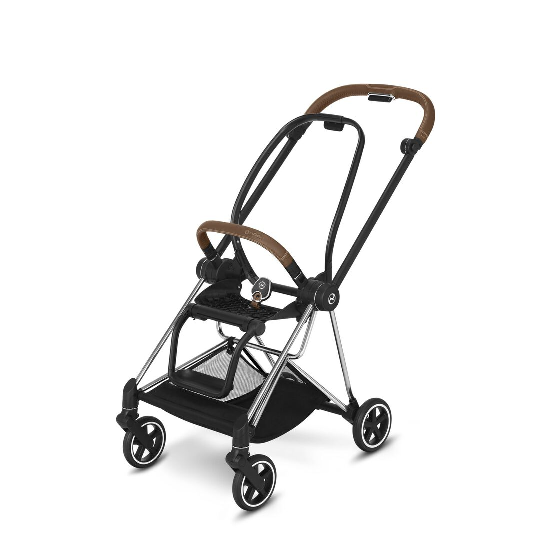 CYBEX Mios Rahmen - Chrome With Brown Details in Chrome With Brown Details large Bild 1