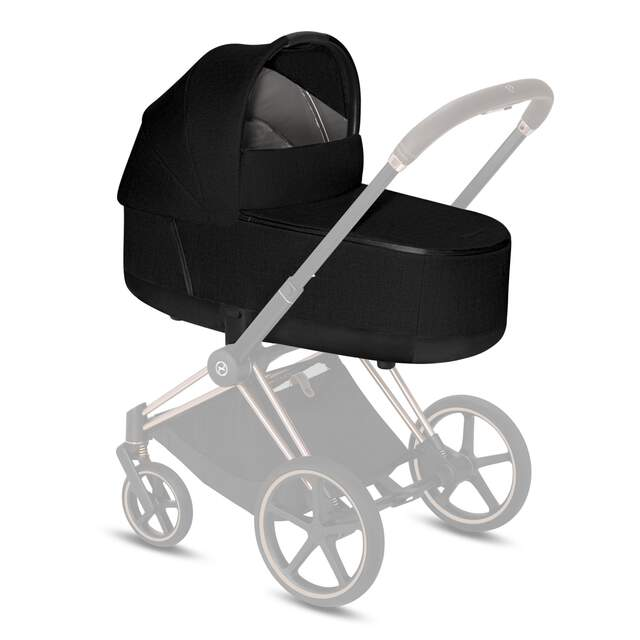 Priam Lux Carry Cot - Stardust Black Plus