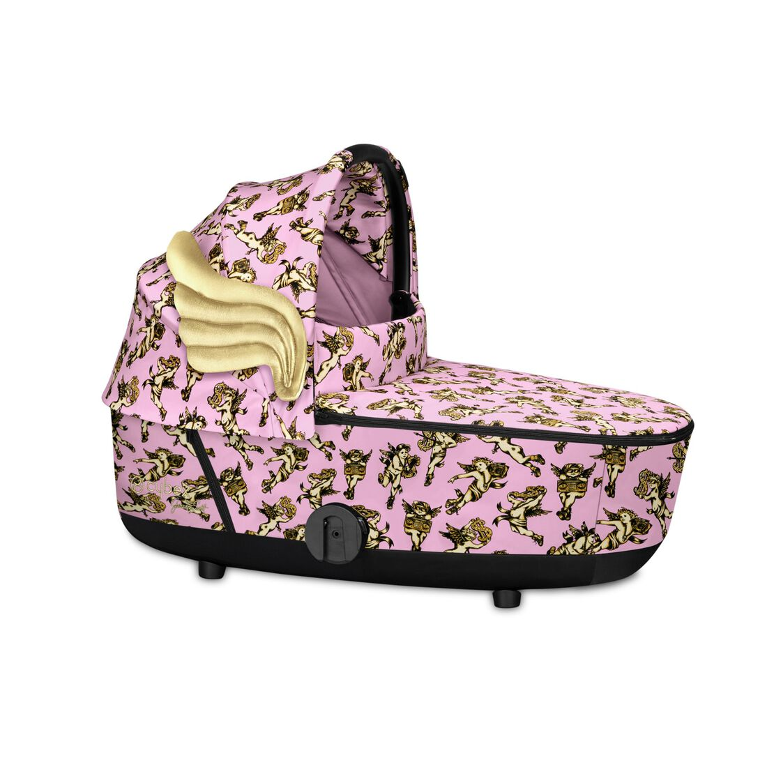 CYBEX Mios Lux Carry Cot - Cherubs Pink in Cherubs Pink large image number 1