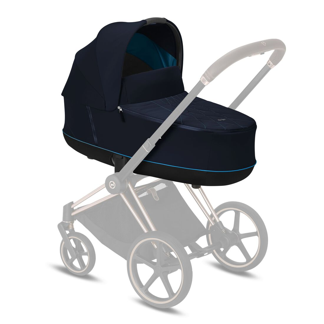 CYBEX Priam Lux Carry Cot - Nautical Blue in Nautical Blue large image number 5