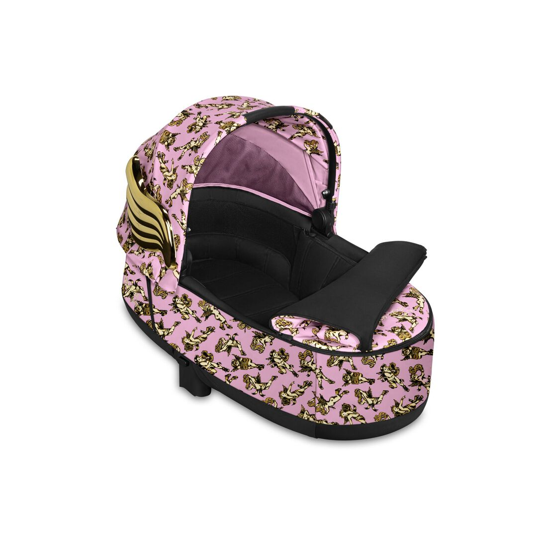CYBEX Priam Lux Carry Cot - Cherubs Pink in Cherubs Pink large image number 2
