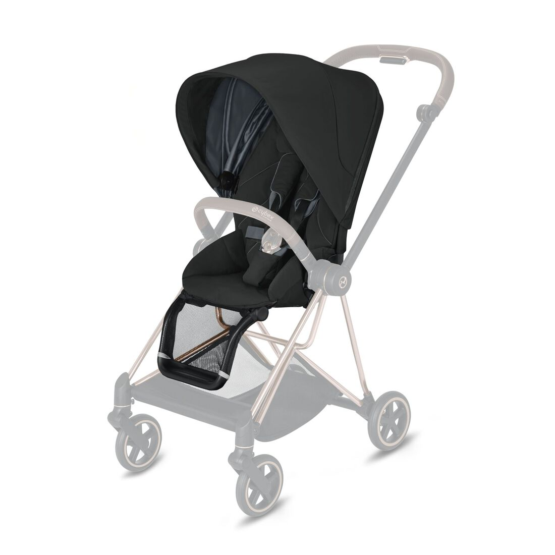 CYBEX Mios Sitzpaket - Deep Black in Deep Black large