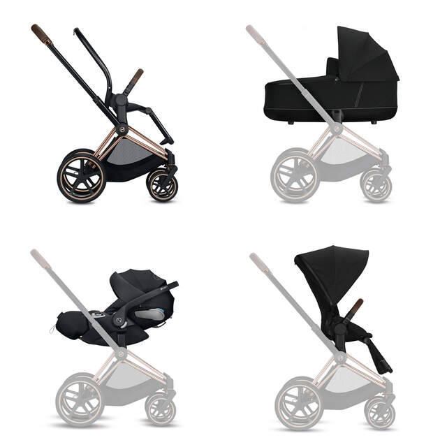Configure Priam Set: Frame, Lux Carry Cot, Cloud Z i-Size, Seat Pack