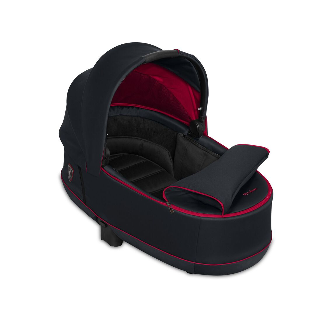 CYBEX Priam Lux Carry Cot - Ferrari Victory Black in Ferrari Victory Black large image number 2
