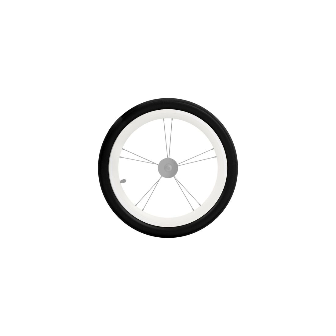 CYBEX Zeno/Avi Front Wheel Tyre and Tube - Black in Black large image number 1