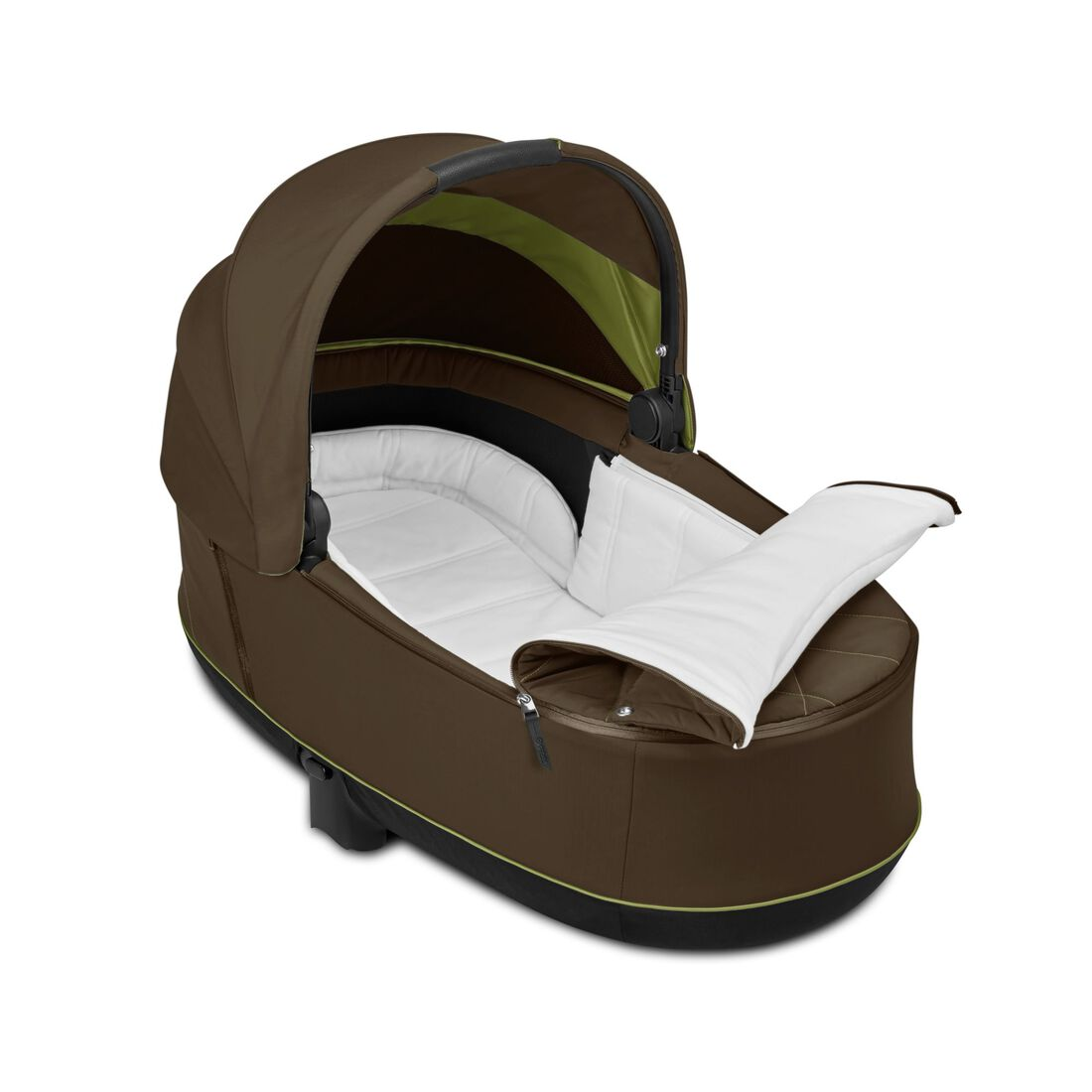 CYBEX Priam Lux Carry Cot - Khaki Green in Khaki Green large image number 3