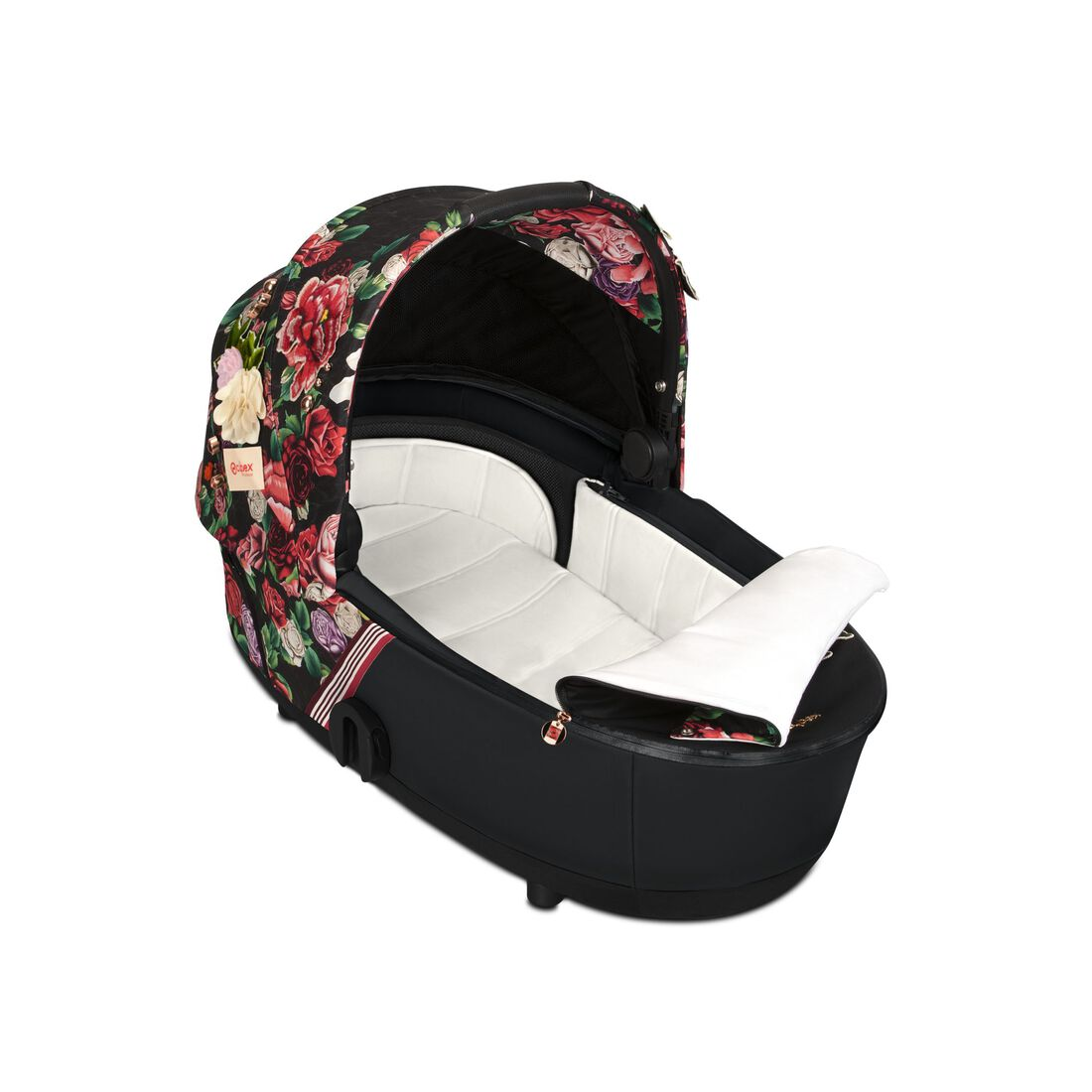 CYBEX Mios Lux Carry Cot - Spring Blossom Dark in Spring Blossom Dark large image number 2