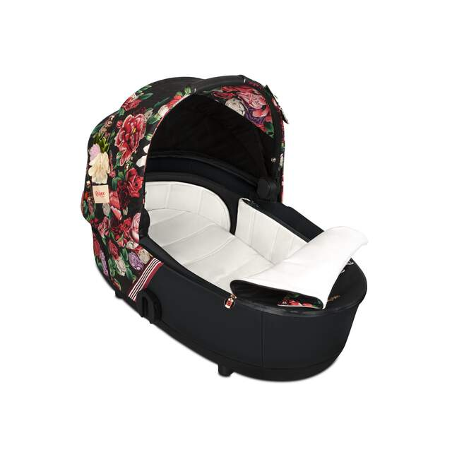 Mios Lux Carry Cot - Spring Blossom Dark