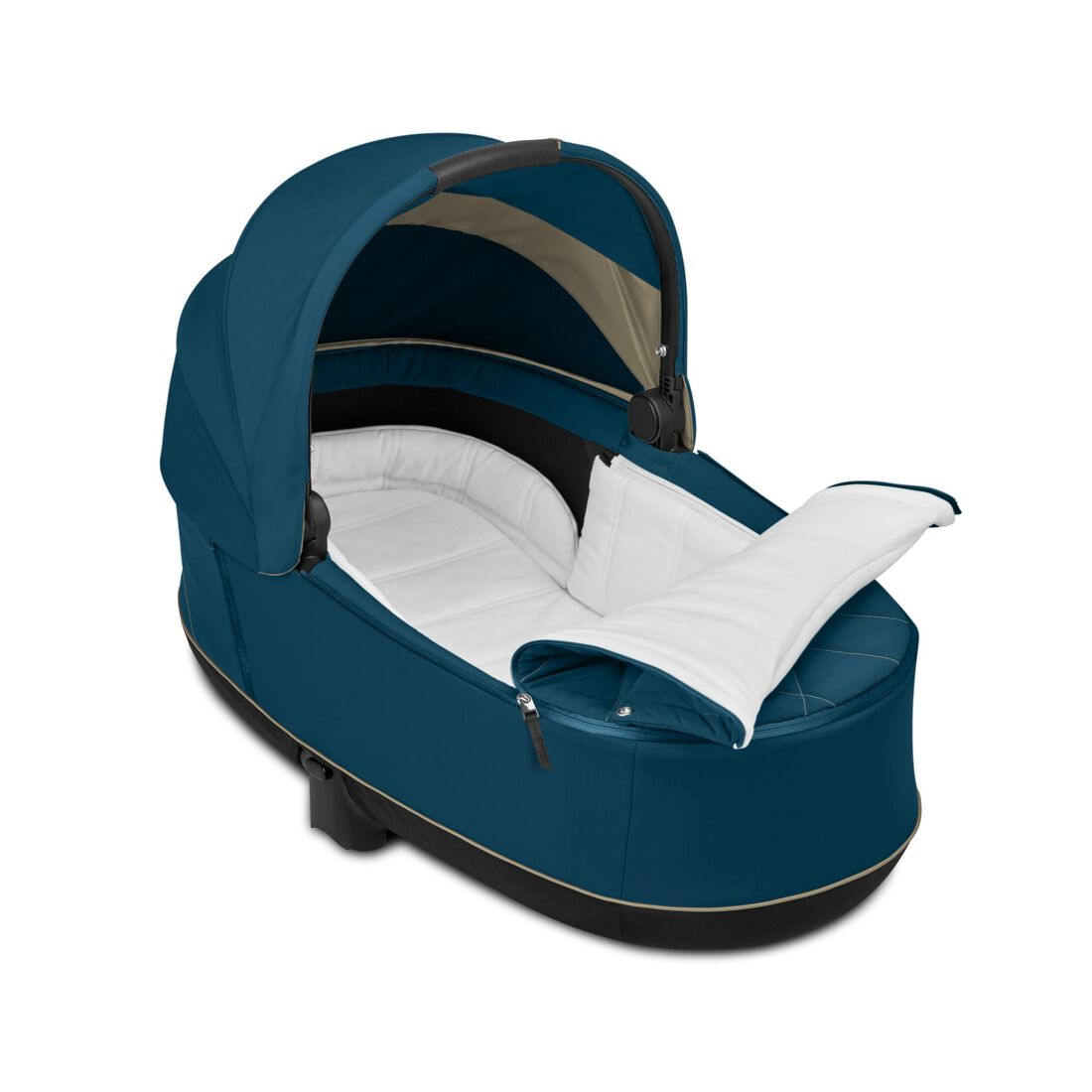 CYBEX Priam Lux Carry Cot - Mountain Blue in Mountain Blue large image number 3
