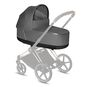 CYBEX Priam Lux Carry Cot - Manhattan Grey Plus in Manhattan Grey Plus large image number 2 Small