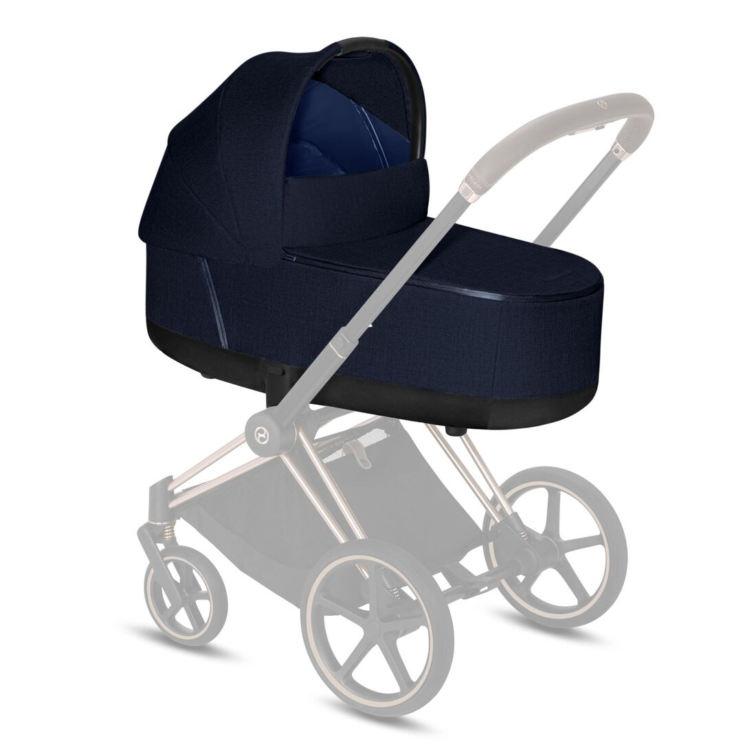 CYBEX Priam Lux Carry Cot - Midnight Blue Plus in Midnight Blue Plus large image number 2