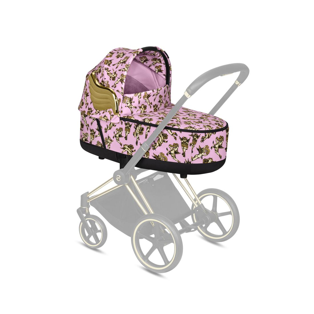 CYBEX Priam Lux Carry Cot - Cherubs Pink in Cherubs Pink large Bild 4