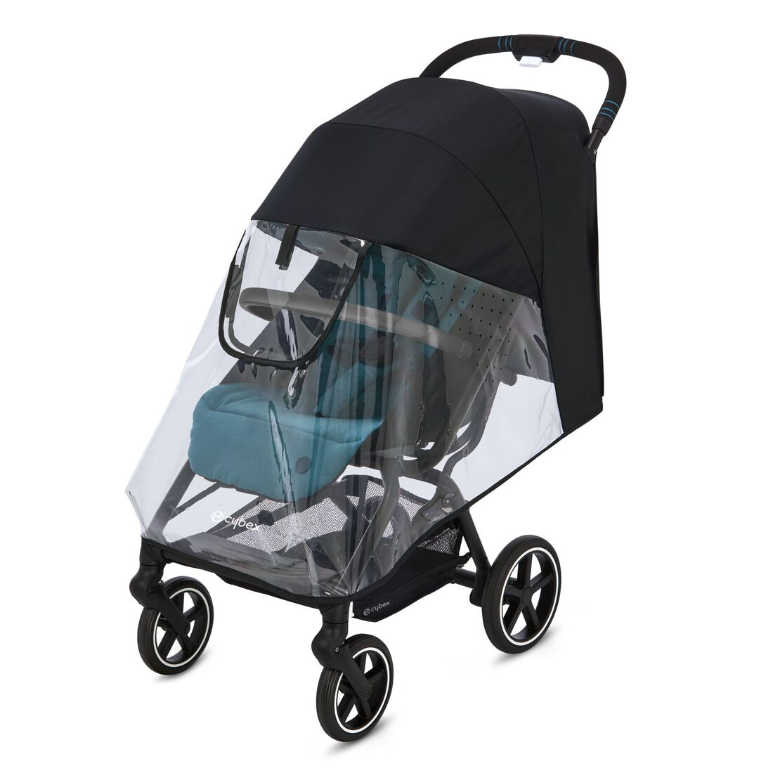 CYBEX Rain Cover Eezy S Line - Transparent in Transparent large image number 2