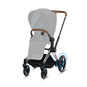 CYBEX e-Priam Frame - Chrome With Brown Details in Chrome With Brown Details large image number 2 Small