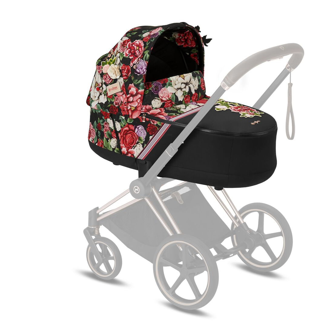 CYBEX Priam Lux Carry Cot - Spring Blossom Dark in Spring Blossom Dark large image number 4
