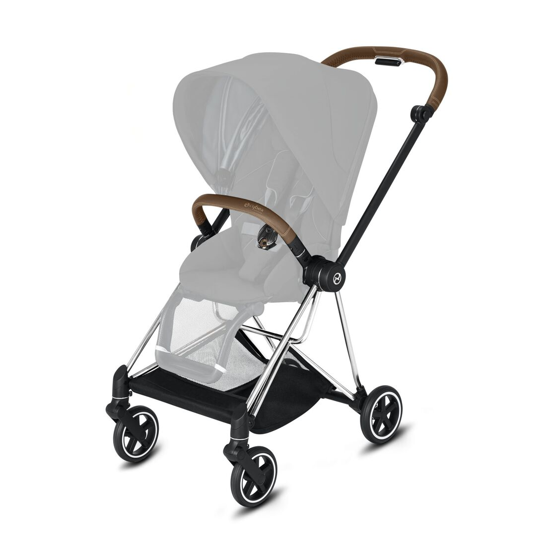 CYBEX Mios Rahmen - Chrome With Brown Details in Chrome With Brown Details large Bild 2