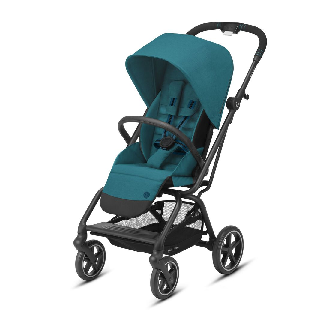 CYBEX Eezy S Twist+2 - River Blue (Schwarzer Rahmen) in River Blue (Black Frame) large Bild 1
