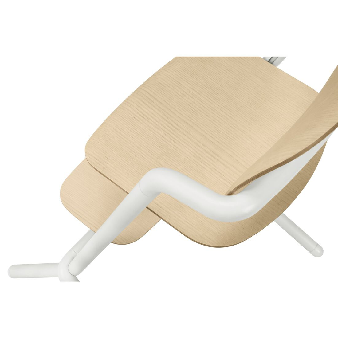 CYBEX Lemo Chair - Porcelaine White (Wood) in Porcelaine White (Wood) large image number 4