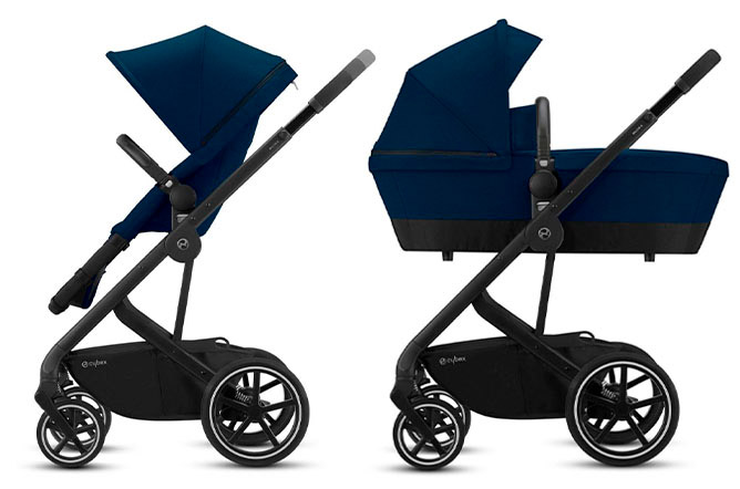 Balios 2-in-1 Cot converts into seat unit