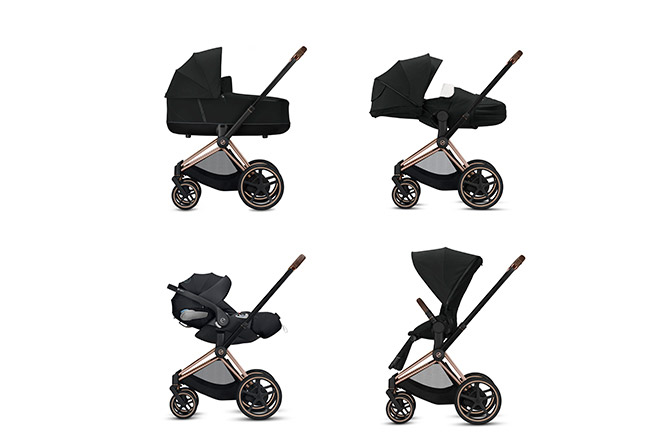 ePriam JS Wings Frame 4-in-1 travel system
