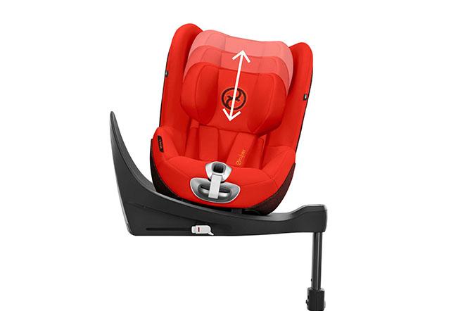 Sirona Zi i-Size Height-adjustable headrest