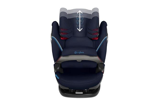 Pallas S-fix Height-adjustable headrest